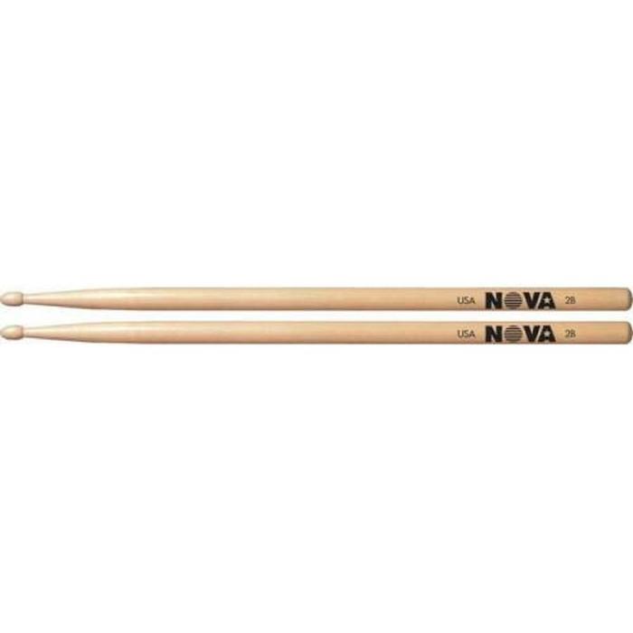Барабанные палочки VIC FIRTH N2B 2B с деревянным наконечником, орех