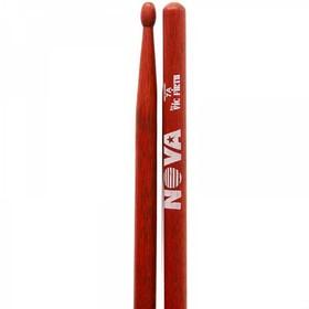 Барабанные палочки VIC FIRTH N7AR 7A деревянный наконечник, цвет красный, материал орех