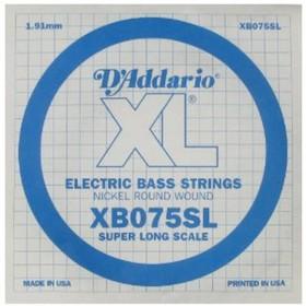 Отдельная струна для бас-гитары D'Addario XB075SL Nickel Wound никелированная, .075, Super Long   45