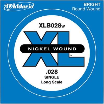Отдельная струна для бас-гитары D'Addario XLB028W Nickel Wound никелированная, .028