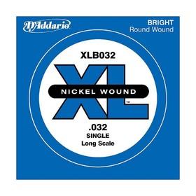 Отдельная струна для бас-гитары D'Addario XLB035 Nickel Wound никелированная, .035