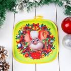 Прихватка «Мышонок - повар», с ложкой, 20?20 см, сувенирная