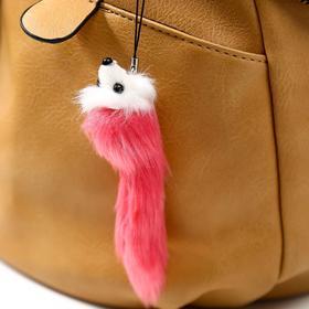 Пушистик на подвеске 'Мышонок цветной с белой мордочкой' МИКС 12х3,5х3,5 см Ош