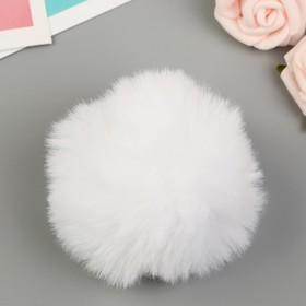 Помпон искусственный мех 'Белый' d=7 см Ош