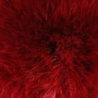 """Помпон искусственный мех """"Бордовый"""" d=7 см - Фото 2"""