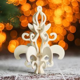 Сборная деревянная модель «Снежинка 2» (ёлочная игрушка)