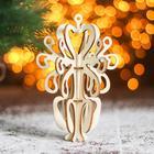 Сборная деревянная модель «Снежинка 5» (ёлочная игрушка)
