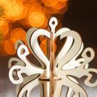 Сборная деревянная модель «Снежинка 5» (ёлочная игрушка) - Фото 2