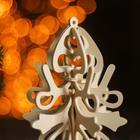 Сборная деревянная модель «Снежинка 7» (ёлочная игрушка) - Фото 2