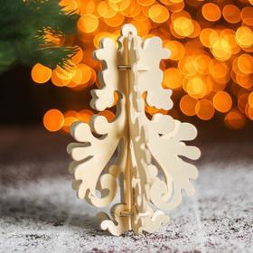 Сборная деревянная модель «Снежинка 9» (ёлочная игрушка)