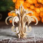 Сборная деревянная модель «Снежинка 10» (ёлочная игрушка) - Фото 1