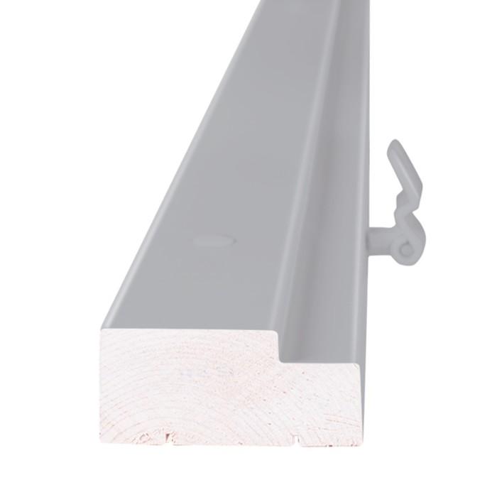 Дверная коробка Ламинат74х30 Серый в цвет RAL7040, М 9х21 +петли ПНН-80 серые 2шт