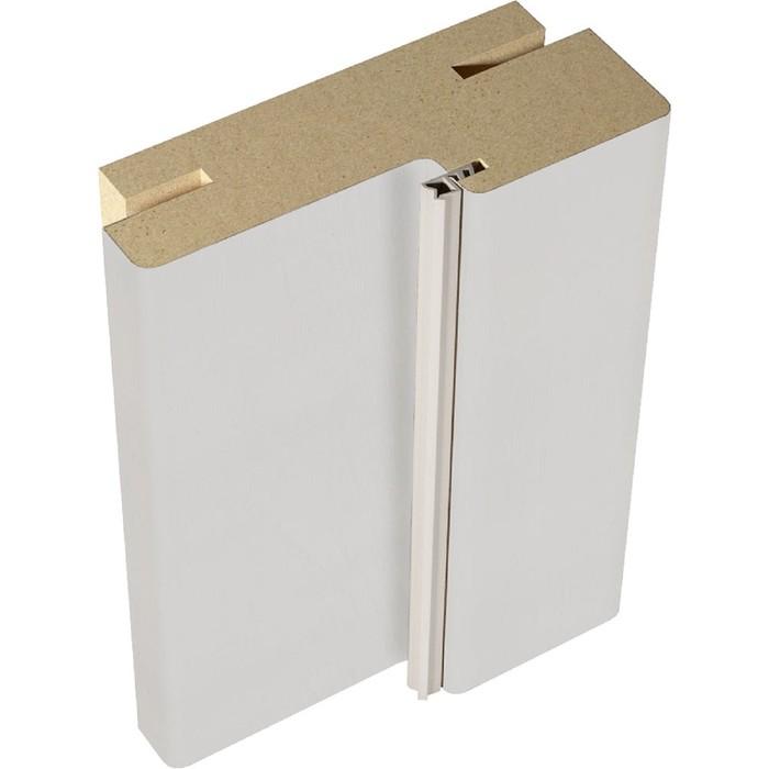 Дверная стойка экошпон для дверей без притвора телескоп Белый Эмалит 74х30х2100