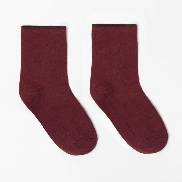 Носки детские шерстяные, цвет красный, р-р 18-20