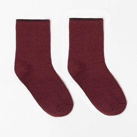 Носки детские шерстяные, цвет красный, р-р 22-24 Ош