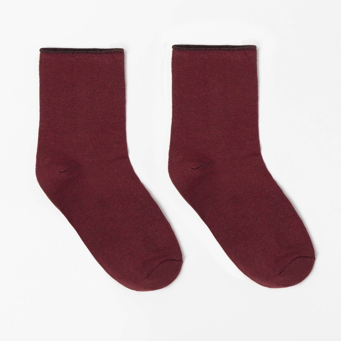 Носки детские шерстяные, цвет красный, р-р 22-24