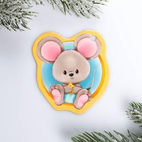 Шильдик на подарок Новый год «Мышонок», 6,5 ×6.7  см Ош
