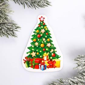 Шильдик на подарок Новый год «Елка», 6,3 ×4,0  см Ош