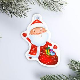 Шильдик на подарок Новый год «Дед мороз», 6,5 ×8,2  см Ош