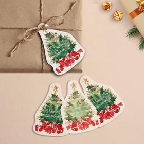 Шильдик на подарок Новый год «Уютных моментов», 6,0 ×9,5  см Ош