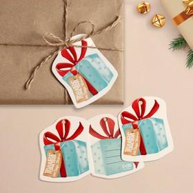 Шильдик на подарок Новый год «Новогодний подарок», 6,5 ×6,3  см Ош