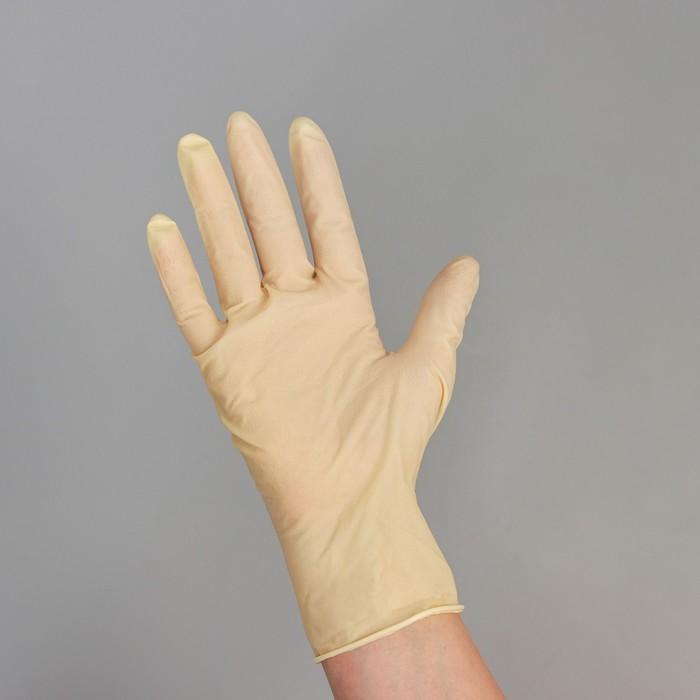 Перчатки латексные неопудренные, размер М, Classic, 100 шт/уп, цвет белый