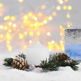 Свеча в венке «Снежное Рождество» Ош