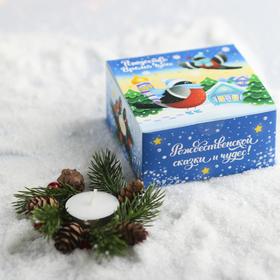 Свеча в венке «Снегирь» Ош