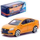 Машина металлическая Lada Vesta, цвет оранжевый, масштаб 1:60