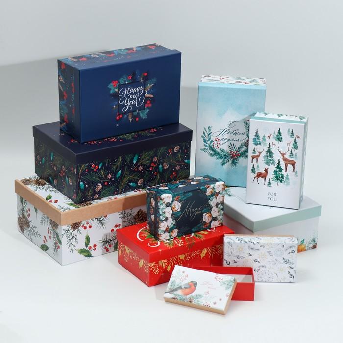 Набор коробок 10 в 1 «Новогодний», 12 х 7 х 4‒32.5 × 20 × 12.5 см 4