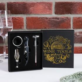 Набор для вина в картонной коробке Wine tools, 14 х 16 см Ош