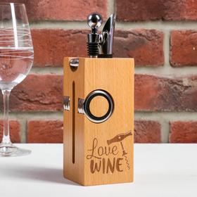 Набор для вина дерево Love wine, 23 х 7 см Ош