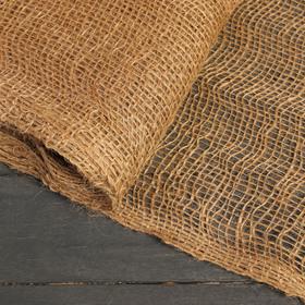 Джут натуральный, 0,95 × 10 м, плотность 190 г/м², плетение 34/24 Ош