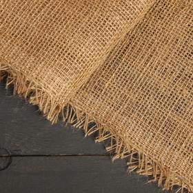 Джут натуральный, 1,1 × 8 м, плотность 215 г/м², плетение 34/32 Ош