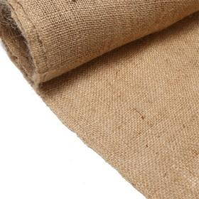 Джут натуральный, 1,1 × 8 м, плотность 260 г/м², плетение 46/40 Ош
