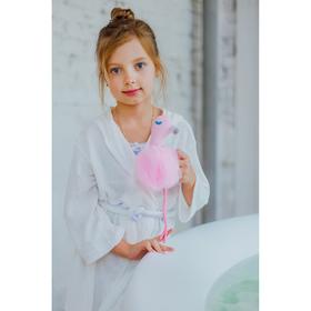 Мочалка детская Доляна «Фламинго», 60 гр