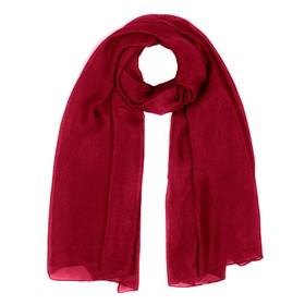 Палантин женский шёлковый, цвет бордовый, размер 110х188