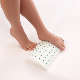 Ипликатор - валик для шеи и поясницы, мягкий, 14 × 23 см, 42 модуля, цвет белый/зелёный