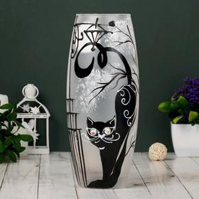 """Ваза стекло """"Кошка"""" 1, d-7.5см 10х26 см"""