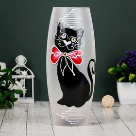 """Ваза стекло """"Кошка"""" 3, d-7.5см 10х26 см"""