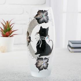"""Ваза стекло """"Кошка"""" 5, d-7.5см 10х26 см"""