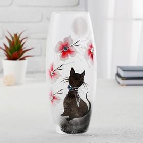 """Ваза стекло """"Кошка"""" 6, d-7.5см 10х26 см"""