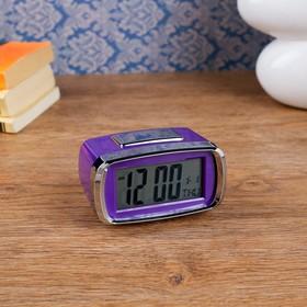Часы-будильник электронные 'Санкудо', 10х6 см, микс, 2аа Ош