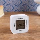 Часы-будильник электронные с таймером, термометром и календарем, 7х7 см, 2ааа