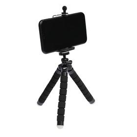 Штатив-тренога LuazON настольный, для телефона, гибкие ножки, высота 17 см, чёрный Ош