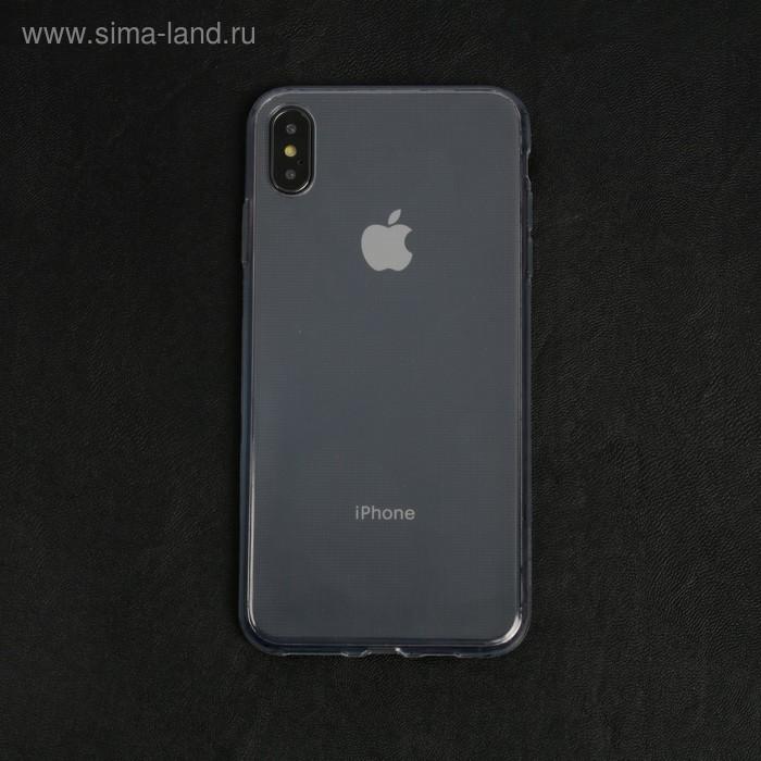 Чехол LuazON для телефона iPhone XS Max, силиконовый, тонкий, прозрачный
