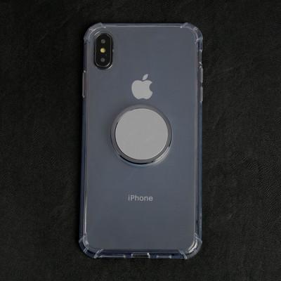 Чехол LuazON для телефона iPhone XS Max, противоударный с попсокетом, к магнитному креплению