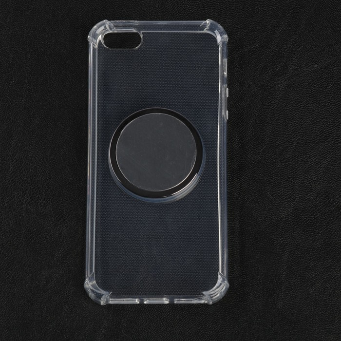 Чехол LuazON для телефона iPhone SE, противоударный с попсокетом, к магнитному креплению