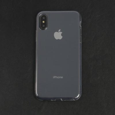 Чехол LuazON для телефона iPhone X/XS, силиконовый, тонкий, прозрачный