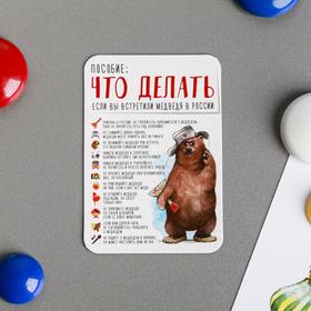 Магнит «Что делать, если вы встретили медведя» Ош